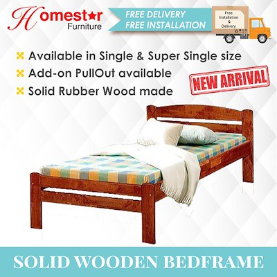 Homestar Cheapest Single Super Single Wooden Bed Frame