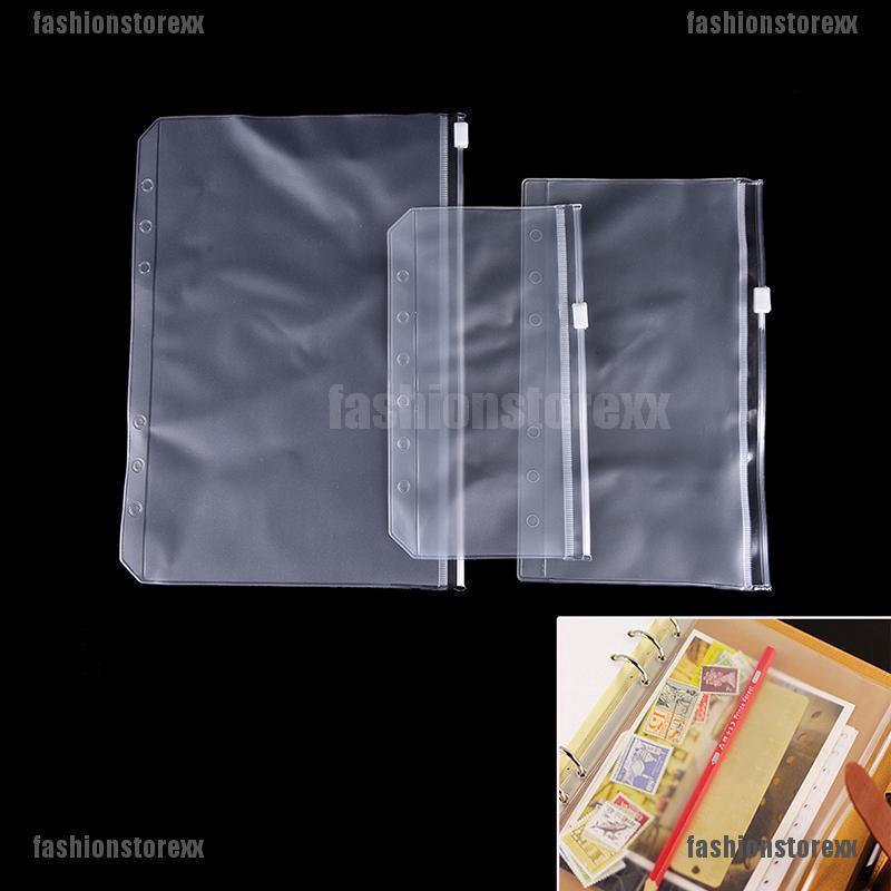 4dadb3ec2596 A5/A6 Transparent Zip Lock Envelope Binder Pocket Refill Organiser ...