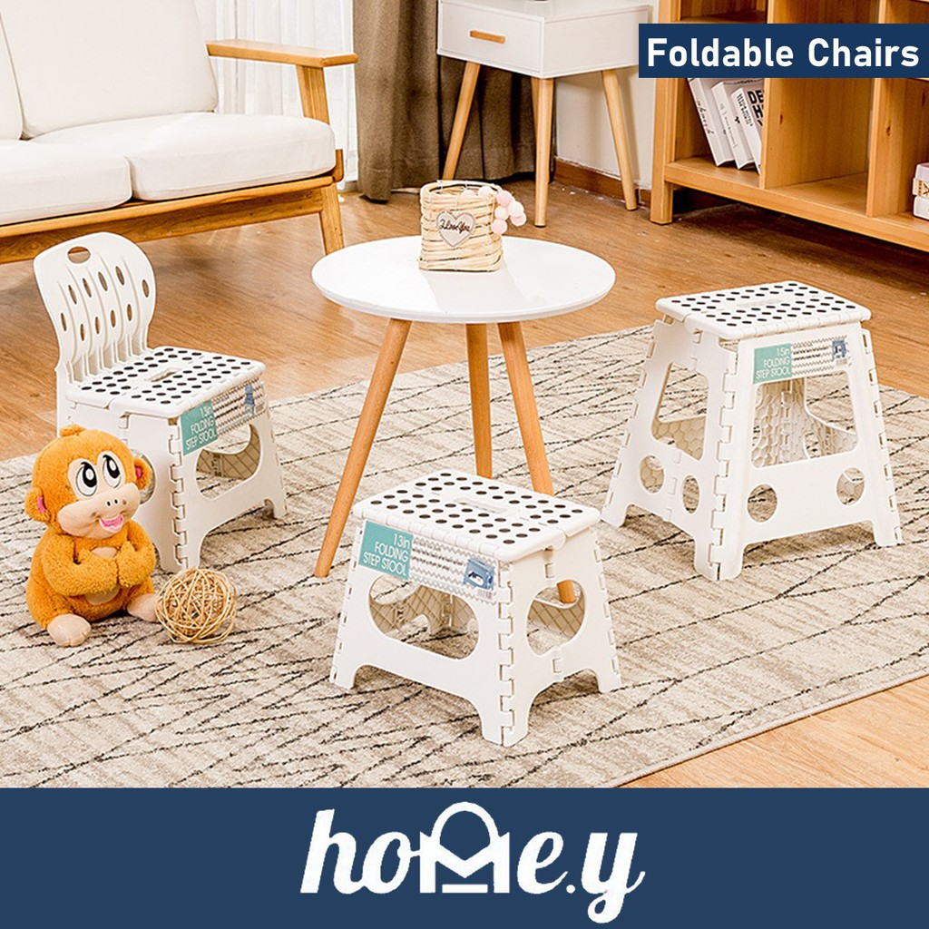 Foldable Outdoor Folding Chairs Stools For Living Room Home Convenience Convenie Telescopic Foldable Collapsible Stool Shopee Singapore