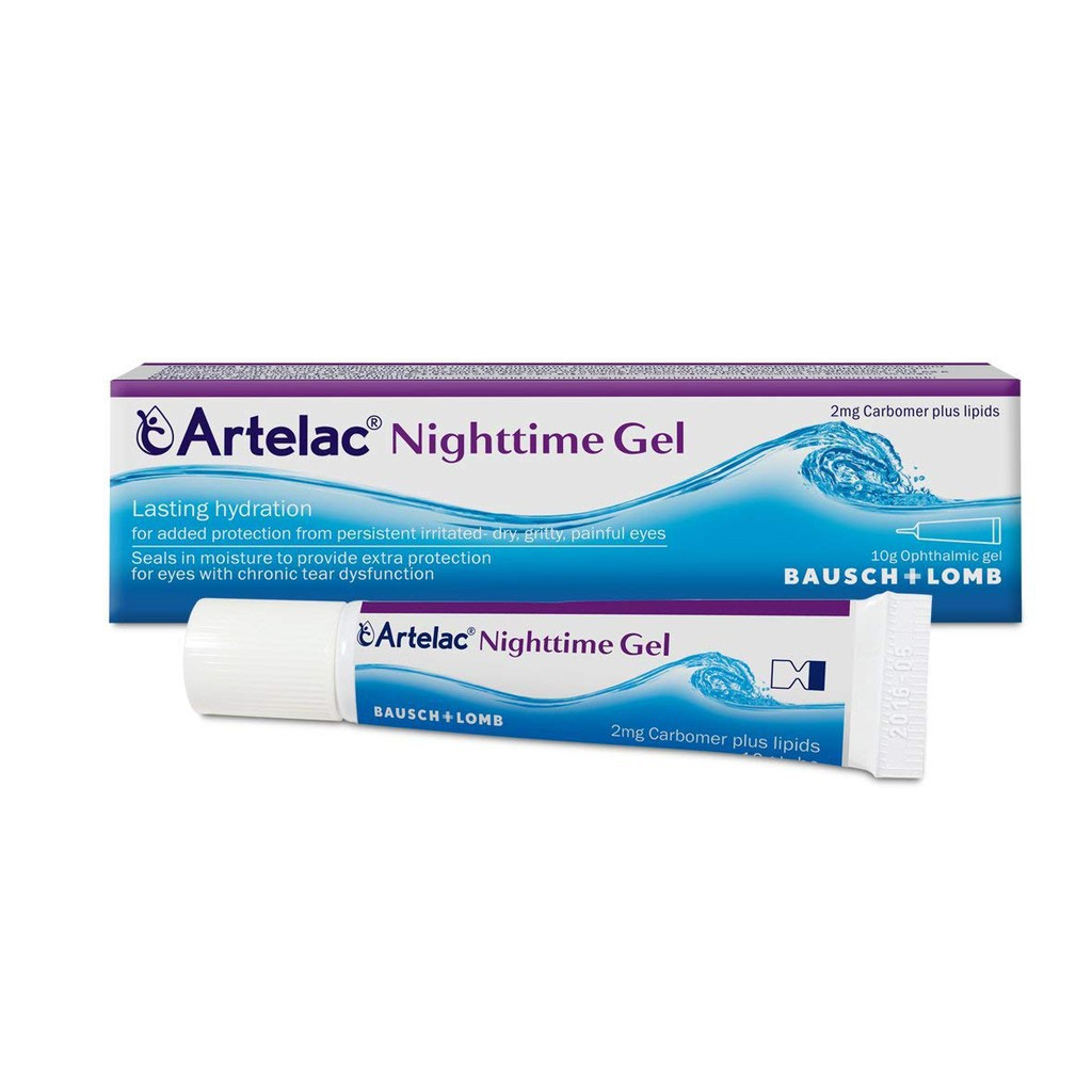 Artelac Nighttime Gel Bausch + Lomb 10g provides added protection from persistently irritated, dry, gritty, painful eyes by calming and relieving symptoms