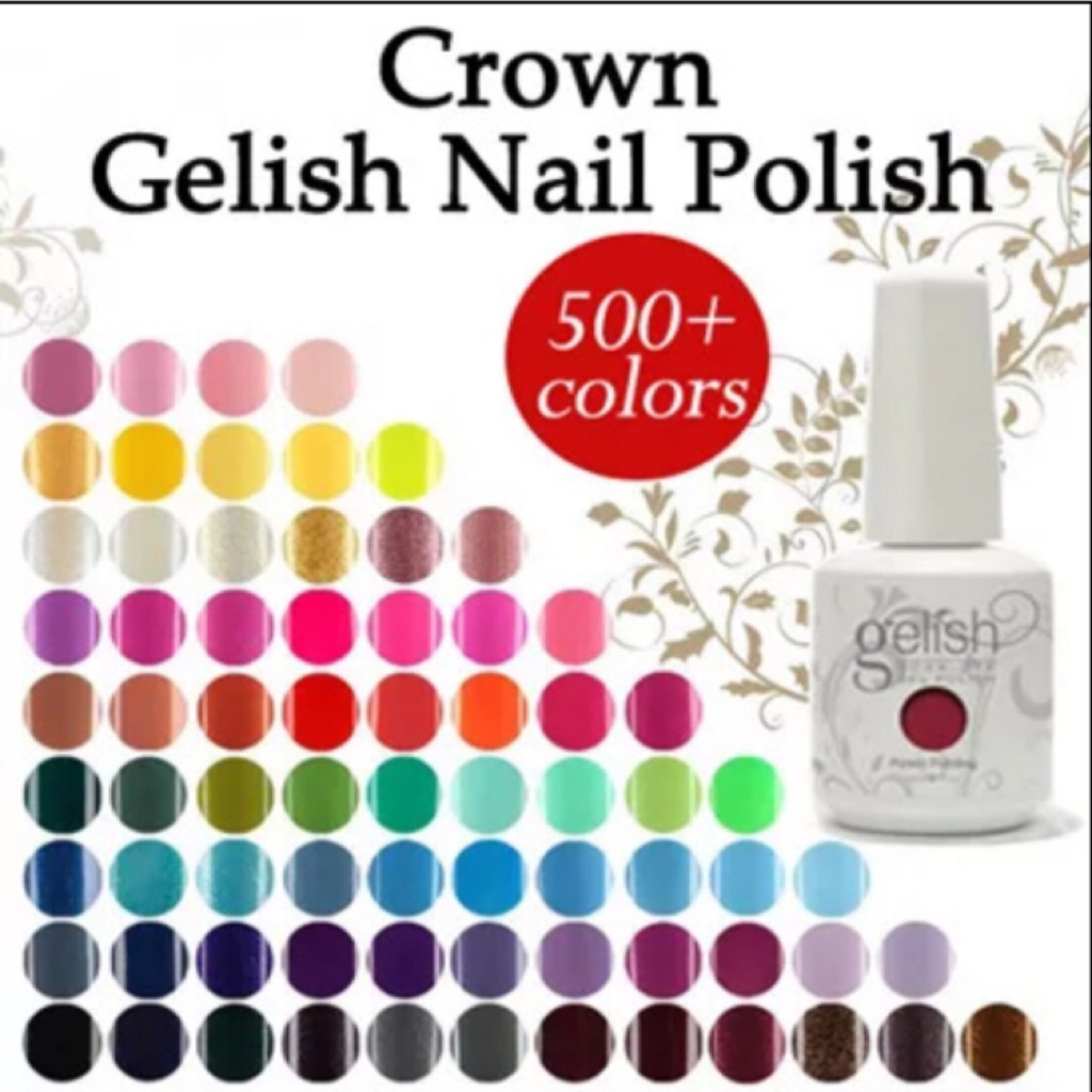 Crown Gelish Nail Polish Gel Manicure Pedicure Long Lasting Wear Upto 30days