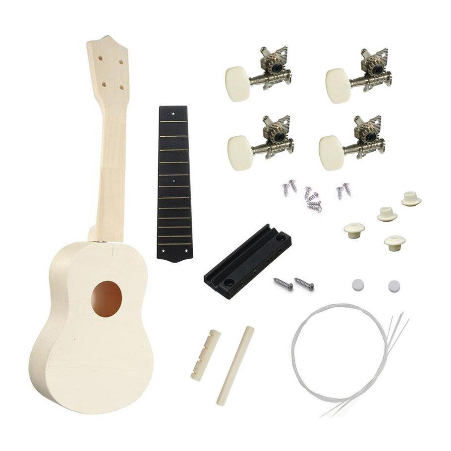 Ukulele Liberal Soprano Ukulele 21 Inch Ukelele 4 Strings Basswood Fingerboard Acoustic Guitar Music Instrument Bag Tuner String Strap Pick Set