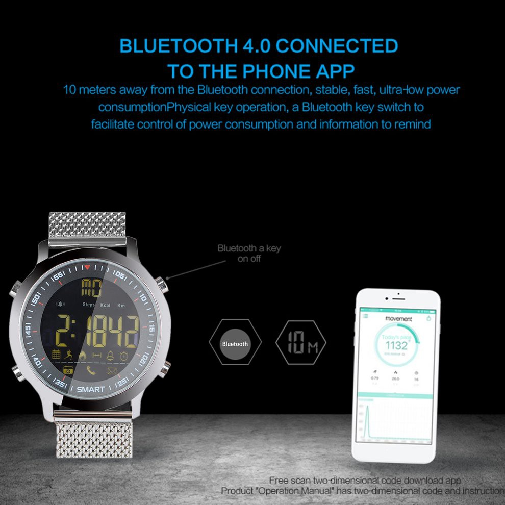 Smart Watch Bluetooth Sport Monitoring Call Information Alert 50M Waterproof | Shopee Singapore