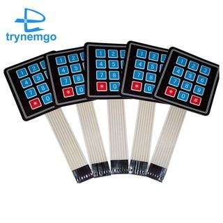 5 PCS 4x3 Matrix Array 12 Key Membrane Switch Keypad, for