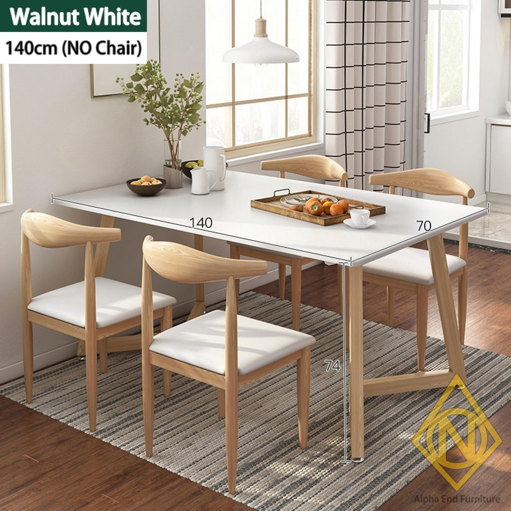 zen dining table and chairs set metal frame wooden table