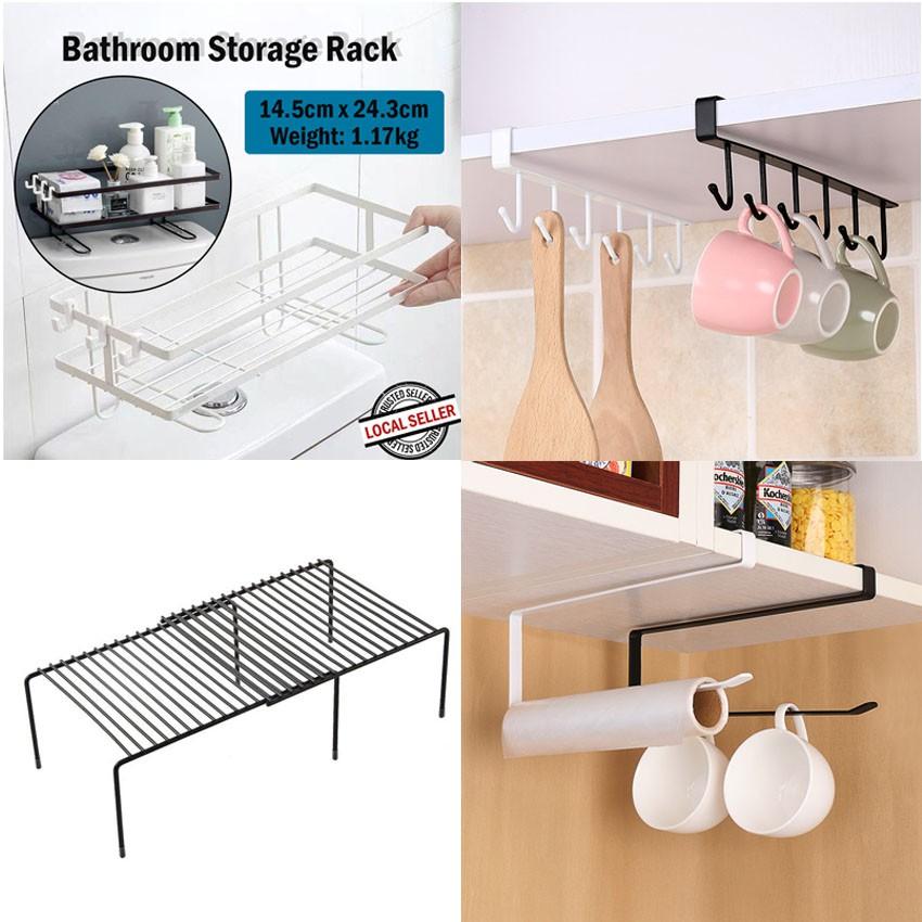 Iron Roll Paper Rack Kitchen Cupboard, Kitchen Cupboard Hanging Shelf