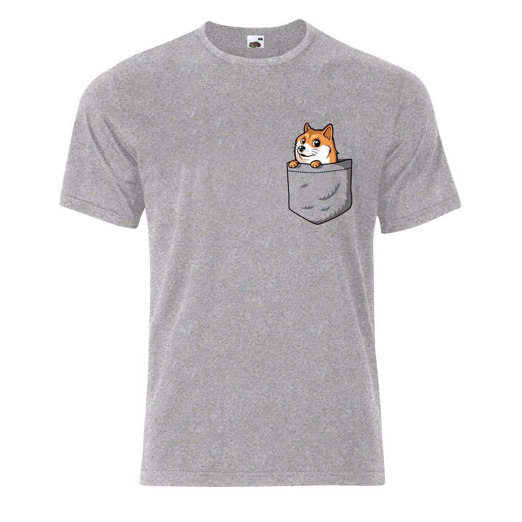 21e28d7a9 Cute Dog Corgi In A Pocket Tee Top 100% Cotton Men's T-Shirt Halloween Gift  | Shopee Singapore