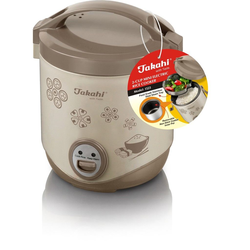 TAKAHI 2-Cup Mini Rice Cooker,0.4-litre (Model:1523