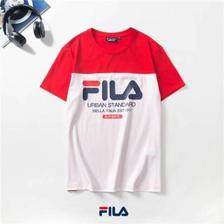 oficjalny sklep najwyższa jakość szukać 2019 Cotton FILA Logo Graphic Tee T Shirt Men Shirt Women Tshirt Korean  Shirt
