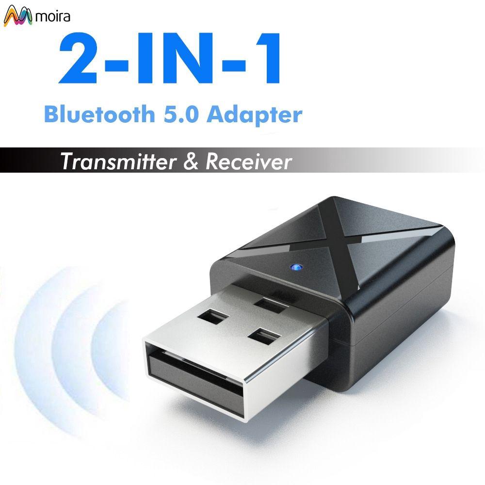 ✔ USB Bluetooth transmitter receiver 2-in-1 wireless audio adapter Bluetooth 5.0 Moira