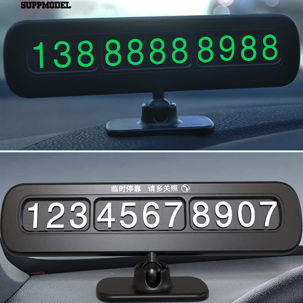 WB28 New Car Styling Round Temporary Parking Card 5.5cm Phone Number Card Plate