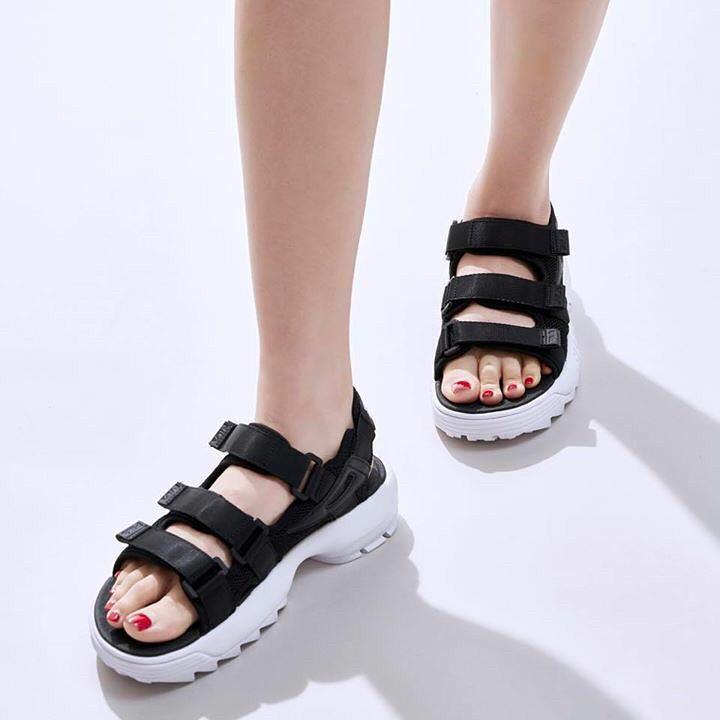 FILA Disruptor Sandal 'Black/White'