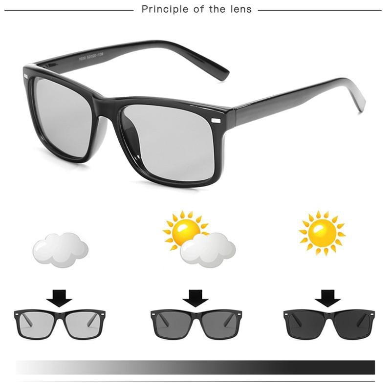 76e8653d67 Polarized Photochromic Sunglasses Men Outdoor Driving Transition Lens  Sunglasses
