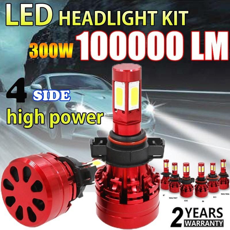 5202 H16 4Sides LED Headlight Bulbs 6000K 2000W 30000LM Super Bright Hi//Lo Beam