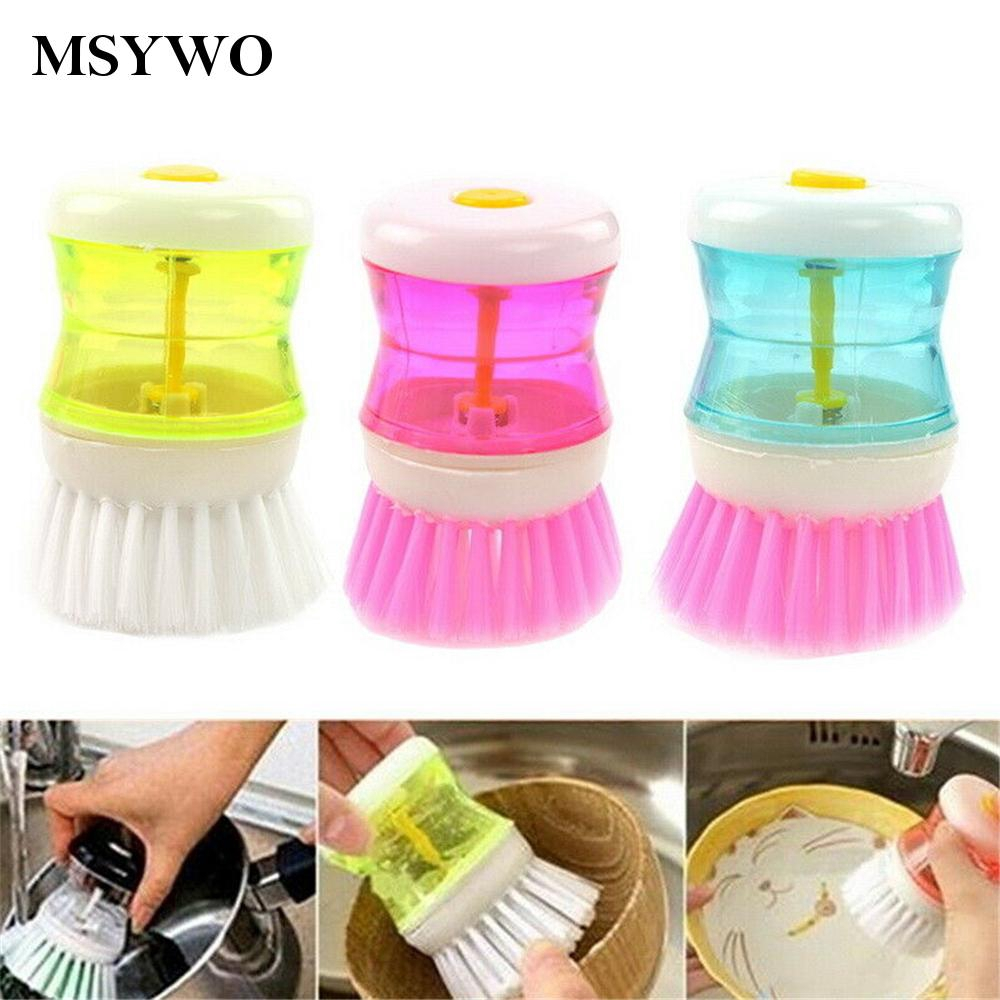 Dish Washing Brush With Soap Dispenser Mini Dish For Kitchen Cleaning Trendy Shopee Singapore