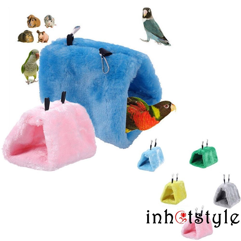 Bird Supplies Pet Bird Soft Plush Hanging Bed Cage Parrot Hammock Warm Pad Mat Cave Hut Tent Toys House Bird Parrot Hammock Bed Toys