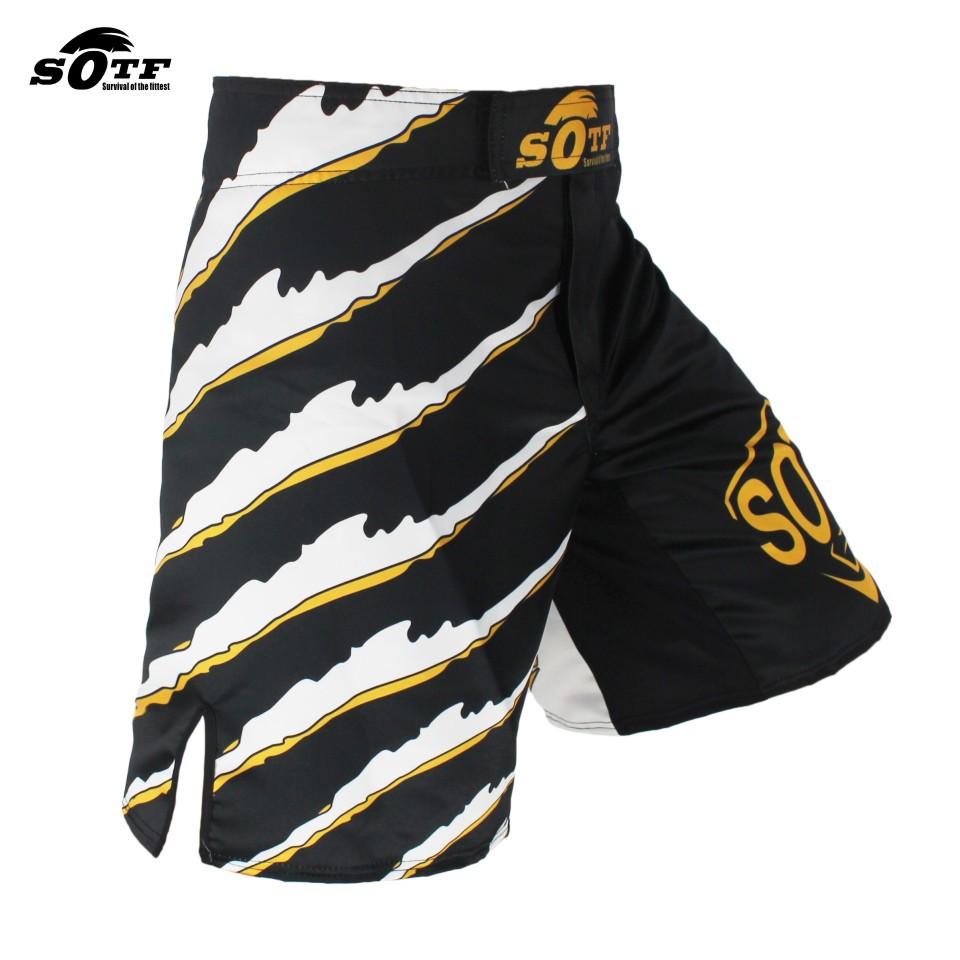 SOTF Tight elastic body-building clothes Tiger Muay Thai MMA Muay Thai boxing