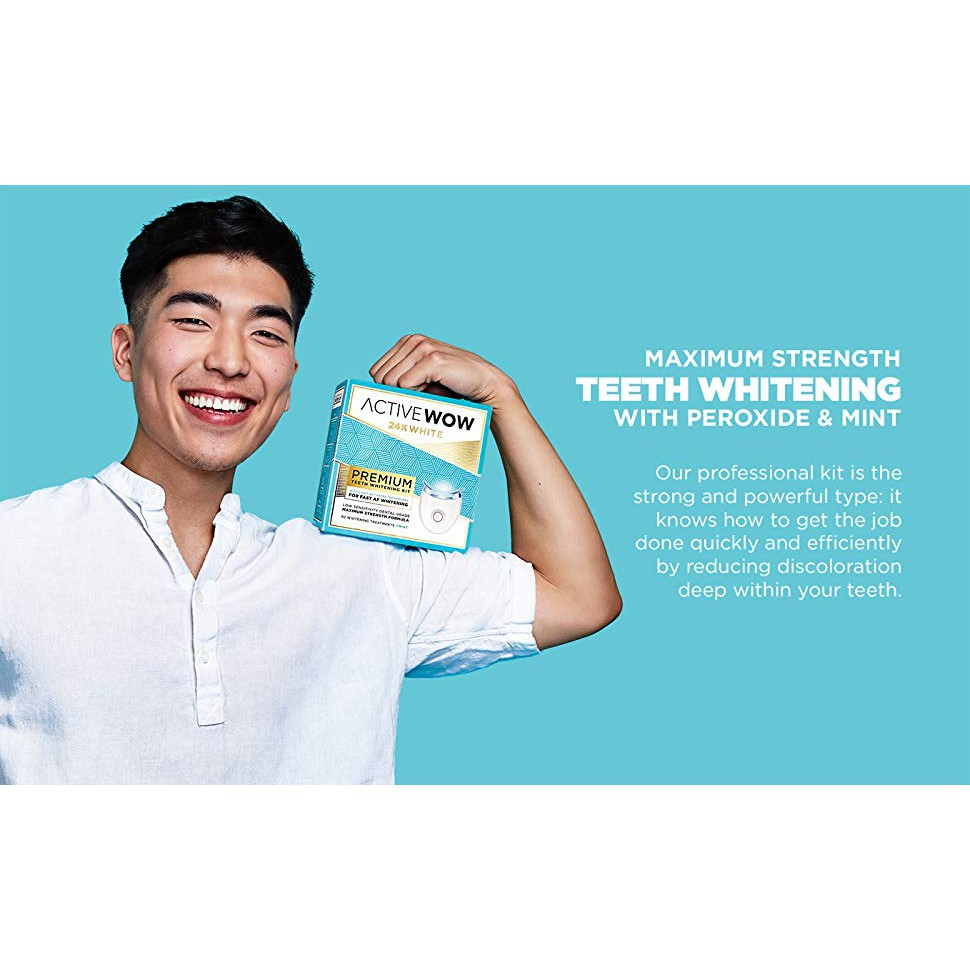 Active Wow Teeth Whitening Kit Led Light 36 Carbamide Peroxide Mint Removes Stain Discoloration From Teeth Shopee Singapore