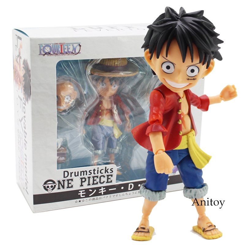21cm One Piece Monkey D Luffy With Flag Action Figure Model Toy Collectible For Friends Gift Toys & Hobbies