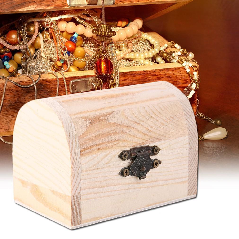 Handiwork Wooden Ingots Jewelry Box Base Art Decor Diy Wood Crafts Collect GN