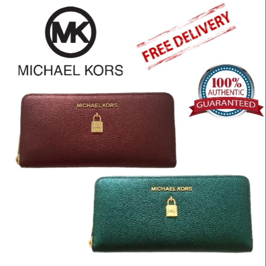 169c492fba7c MICHAEL KORS Karson Flap Continental Wallet | Shopee Singapore