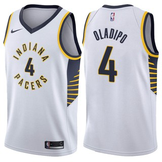 online store 6bdb2 a9408 2018 Original Nike NBA Indiana Pacers Victor Oladipo #4 white basketball  jersey S-XXL
