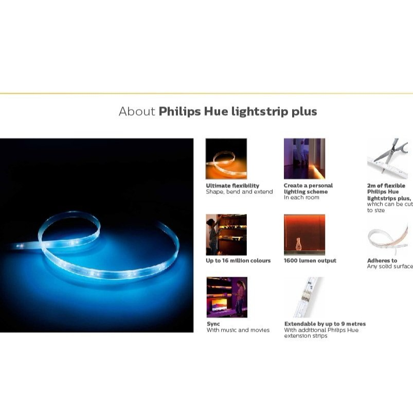 Philips Hue Lightstrip Plus (2M LED Kit) | Shopee Singapore
