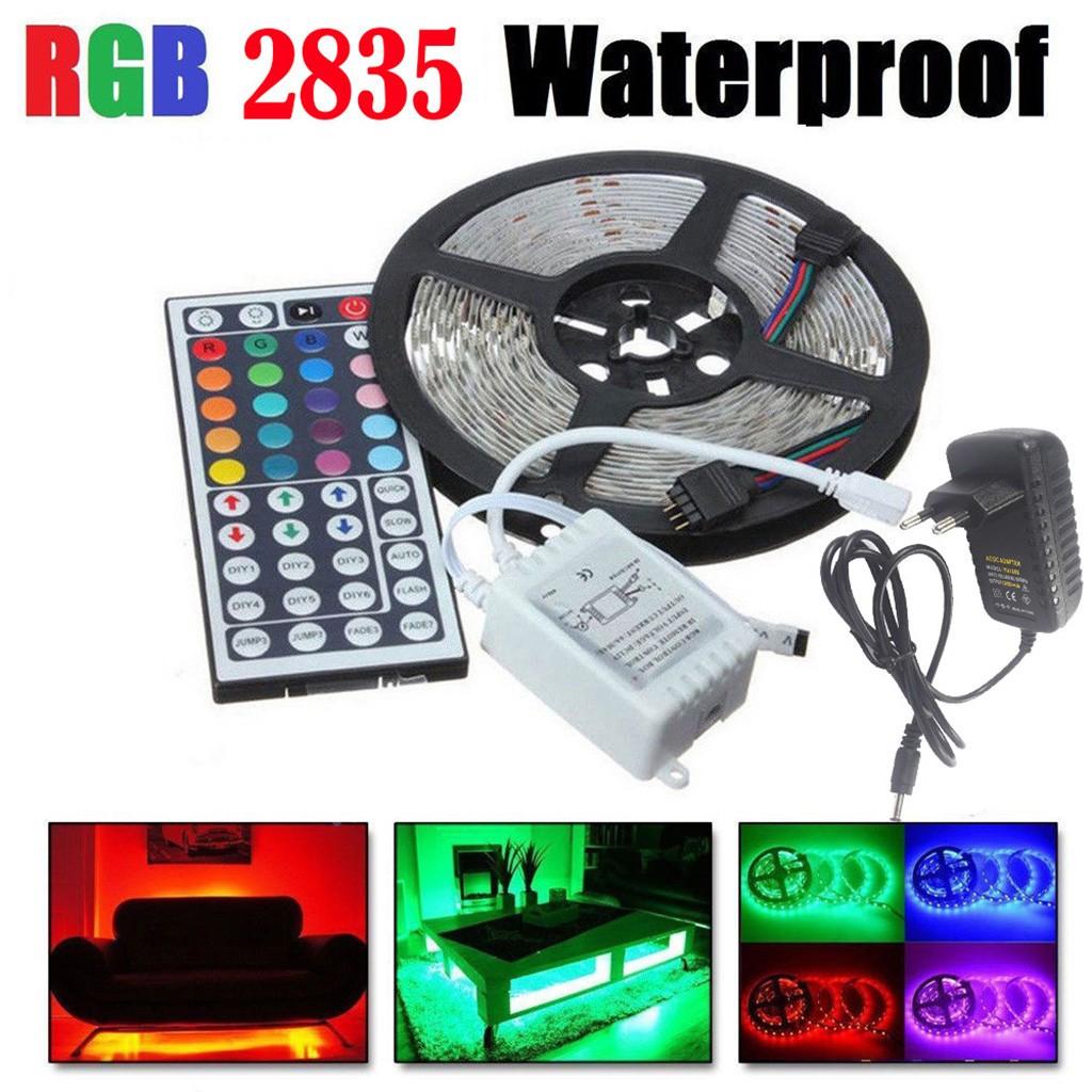 5M 5050 RGBW 300Leds LED Strip Light Non-waterproof+44Key Remote+DC 12V Power
