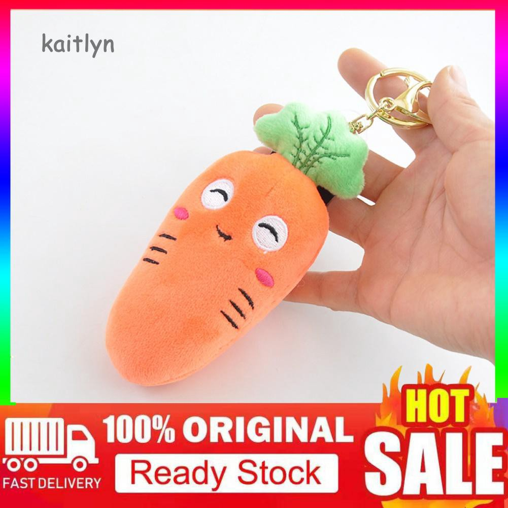 Soft Stuffed Plush Carrot Shape Keychain Keyring Bag Hanging Pendant Decor Toy H