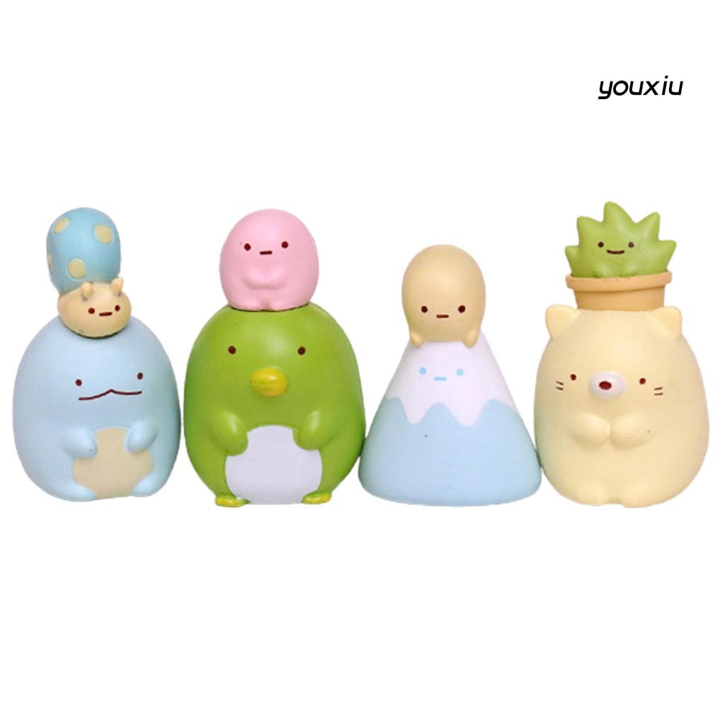 YOU-o 8Pcs Cute Anime Figure Sumikko Gurashi Model Toy Car Ornaments Home Decoration