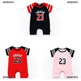 HAT Newborn Baby Boy Girl Kids Romper Body Suit Clothes Outfit JORDAN 23 ROMPER