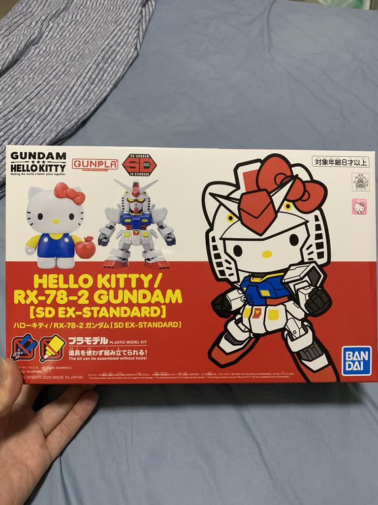 Sanrio Hello Kitty // RX-78-2 GUNDAM SHIPPED FAST! Imported SD EX-STANDARD