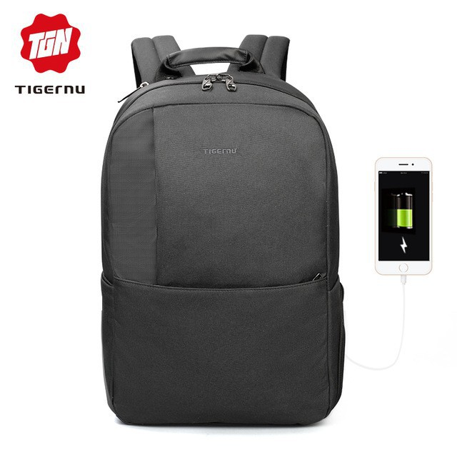a3eb3bcf1b1d Tigernu Waterproof Anti-theft Laptop Backpack USB Charge Bag fits up to 15