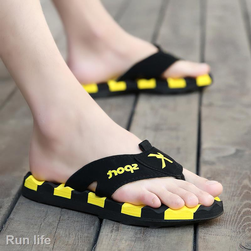 Unisex Summer Beach Slippers Yellow Bee Flip-Flop Flat Home Thong Sandal Shoes