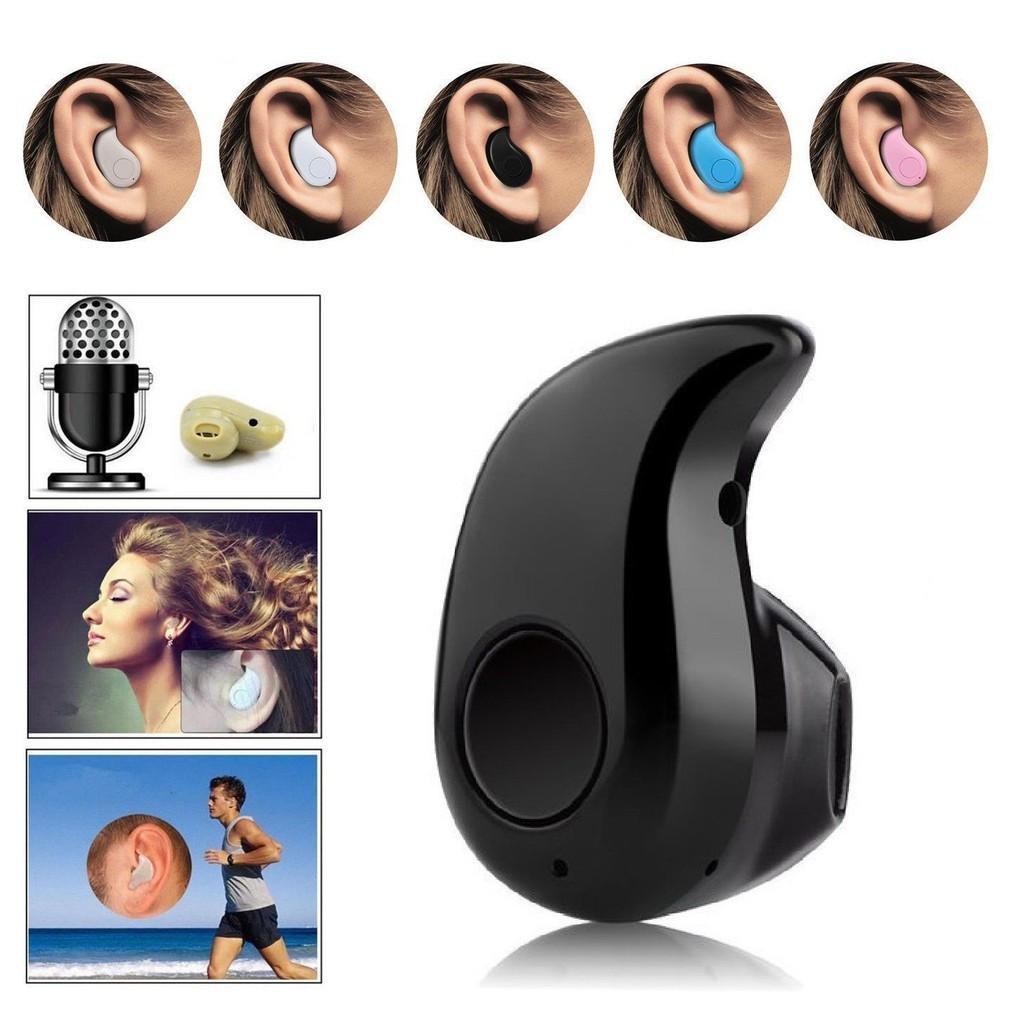 Mini Wireless Bluetooth 4 0 Stereo In Ear Headset Earphone Earpiece Universal Shopee Singapore