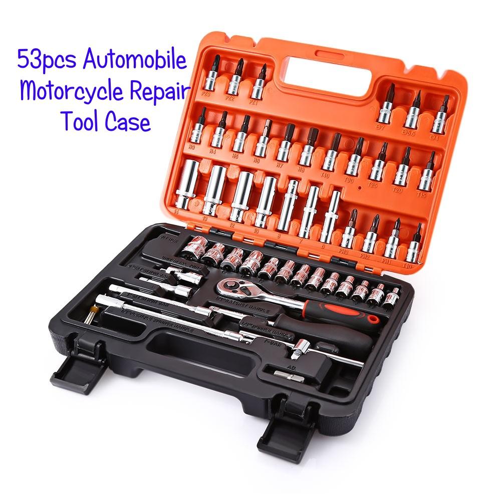 b05783774ec 💯 94pcs Socket Ratchet Wrench Automobile Repair Tools Kit