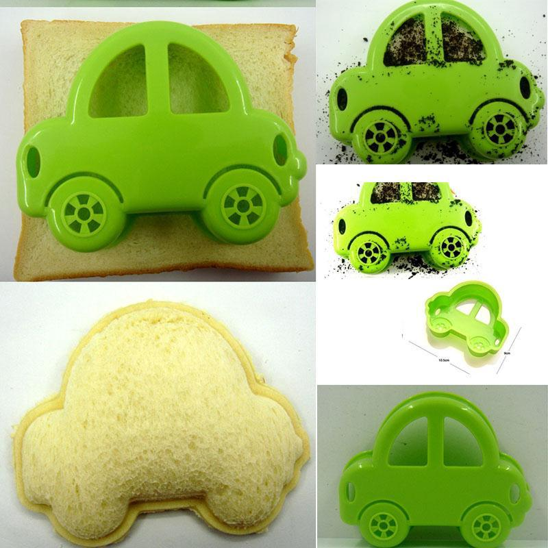 Diy New Green Car Sandwich Mould Bread Cutter Cookie Device Kitchen Tool