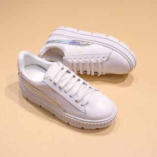 sports shoes c40d6 cc907 Rihanna x Puma Fenty Cleated Creeper 'White-Silver' | Shopee ...