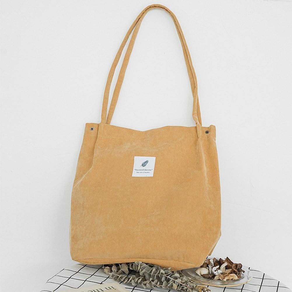 19eb3865c Women's Casual Shoulder Canvas Bag Eco Shopping Handbags Tote Bag | Shopee  Singapore