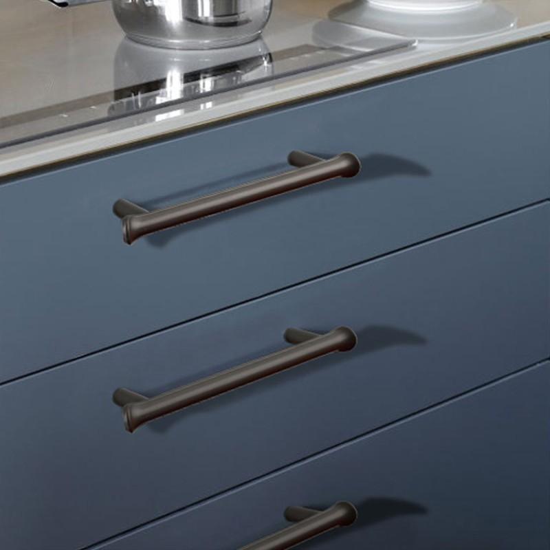 Kk Fing European Simple Rose Gold, Kitchen Cabinet Door And Drawer Hardware