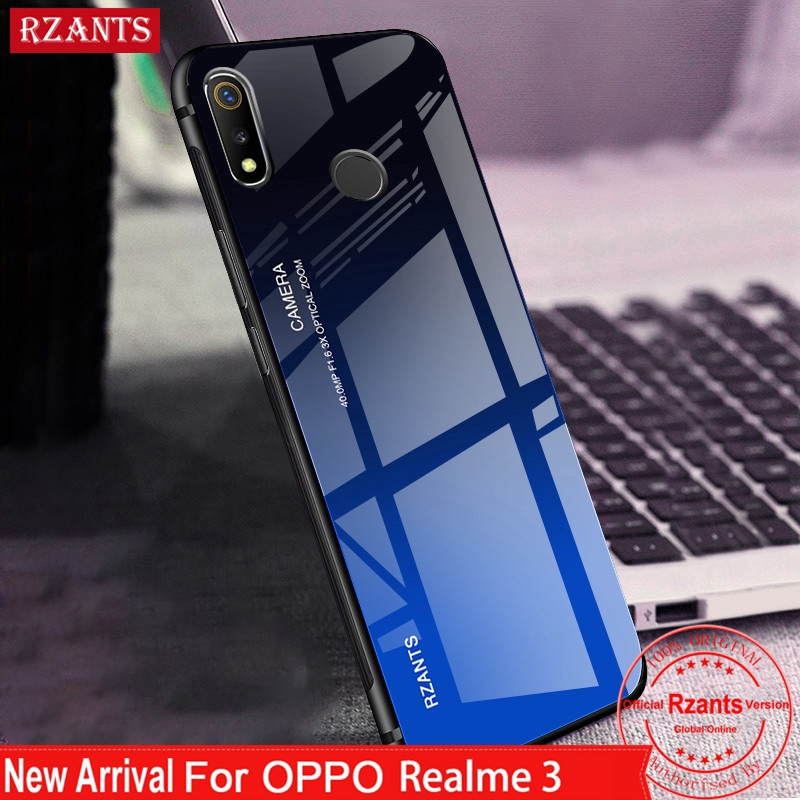 pretty nice cad97 aa617 OPPO Realme 3【Gradient Glass Back Case】Anti-Scratch Slim Thin Cover