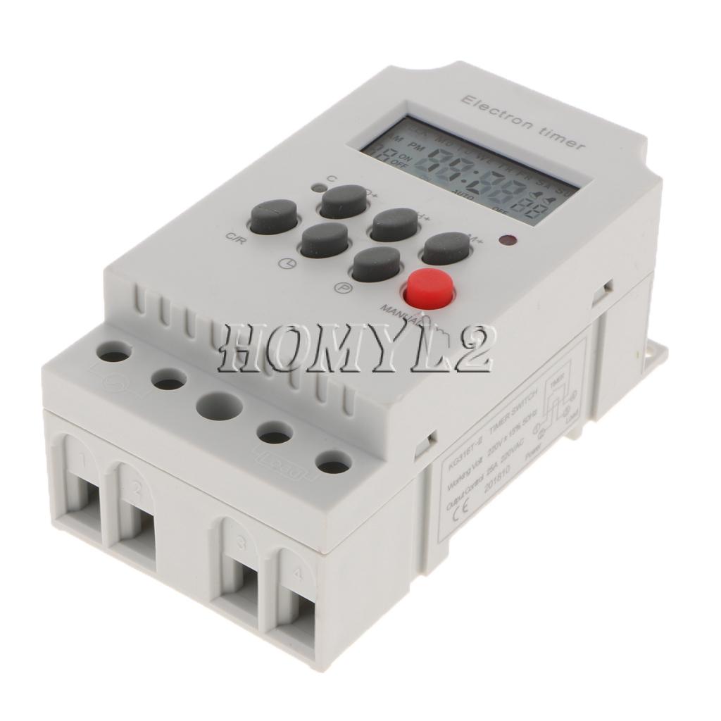 Blesiya Programmable Digital Timer Relay Time Delay Relay Switch 220-240V AC