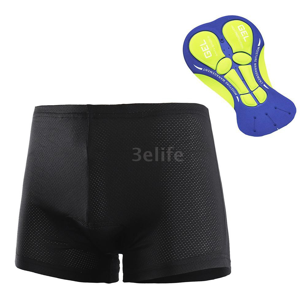 Cycling Shorts Men Breathable and Anti Shock Padded Cycle Undershorts with 3D Gel Pad Bike Underwear Lightweight Elastic