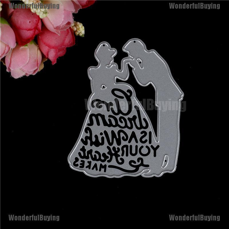 couple kiss metal cutting dies stencil scrapbook album paper embossing craft LY