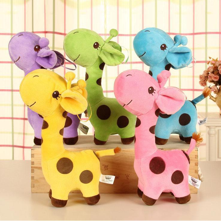 High Quality Soft Stuffed Animal Dolls Plush Giraffe Doll Baby Kids Toy Cute