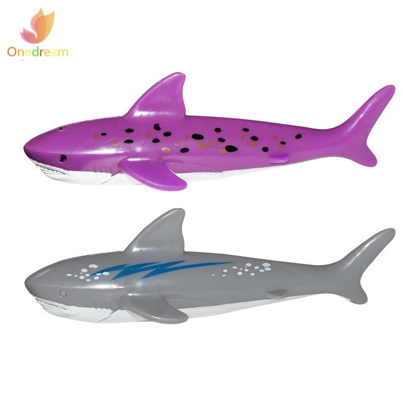 ❦ღ♣ 4pcs Diving Toy Pool Dive Shark Throwing Water Torpedo Underwater Fun For Children Kids