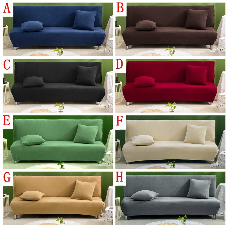 Solid Color Waterproof Sofa Bed Cover How To Install Sofa Covers