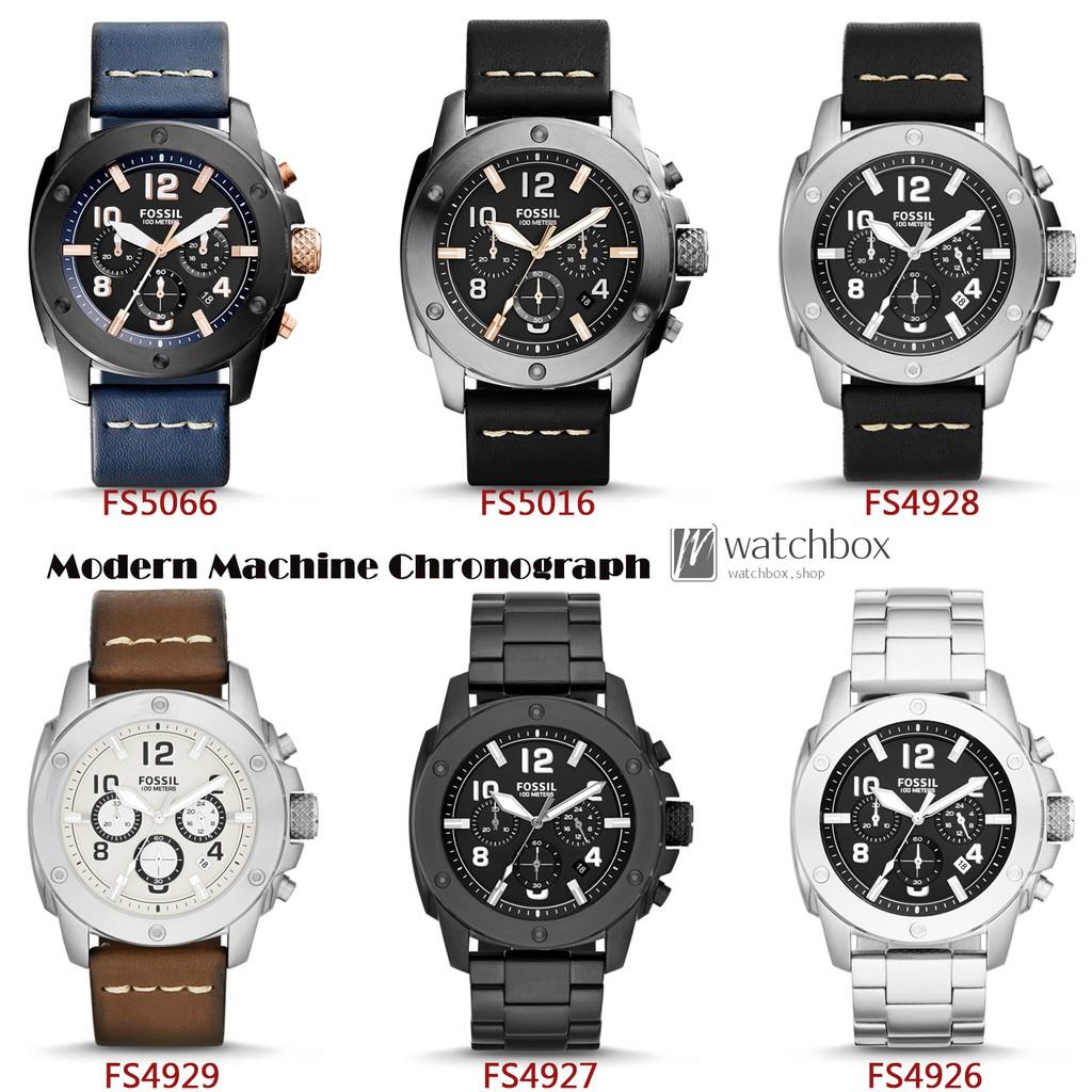Original Fossil Watch Modern Machine Chronograph Quartz Men Fs5182 Set Automatic Mechanical Shopee Singapore