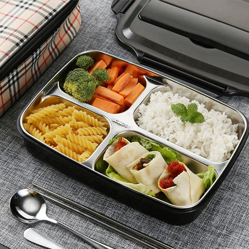 304 Stainless Steel Thermos Thermal Lunch Box With Bag Set