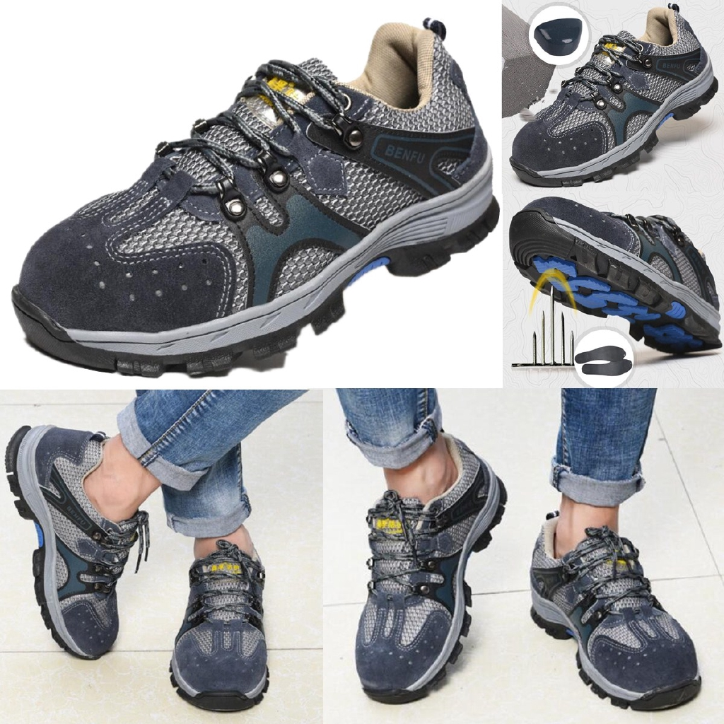Unisex Safety Shoes Steel Toe Work Boots Indestructible Hiking Climbing Sneakers